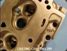 Engine Block & Cylinder Head Casting Number