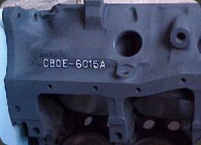 Block on Ford Cylinder Head Casting Numbers
